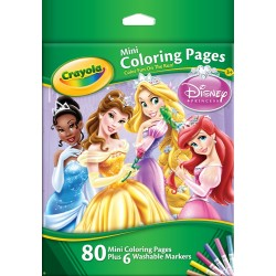 Crayola - Mini Coloring Pages w/ Markers-Disney Princess