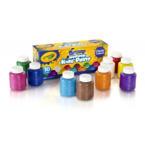 Crayola 10ct Washable Kids Paint 2oz